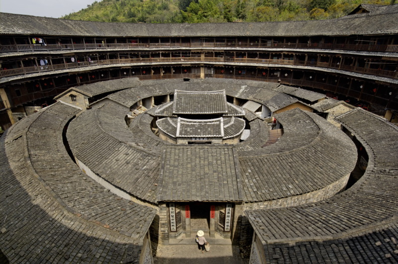 Chengqi tulou. 73 metres in diameter and built in 1709