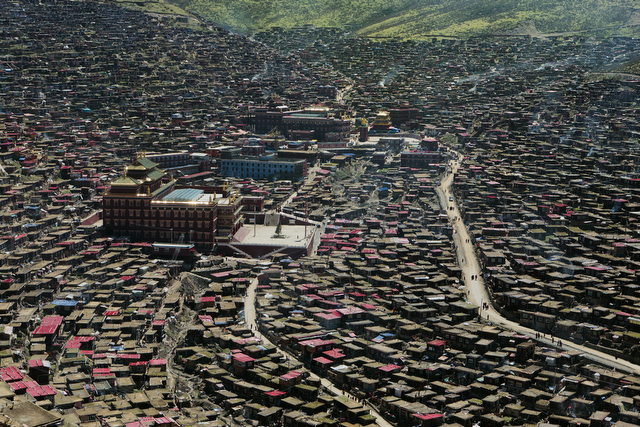 The restricted Larung Valley college town