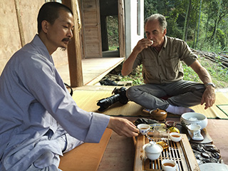 Fulin Zen Temple, Wuyishan, Fujian, China. Tea with Zen master